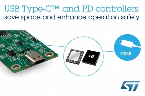 Kontrolery USB Type-C z wewnętrznymi obwodami zabezpieczającymi