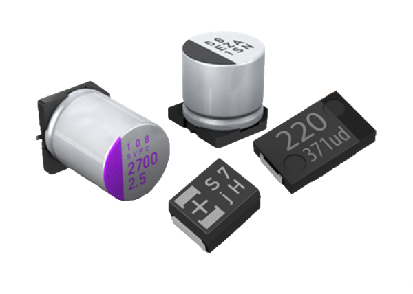 Kondensatory polimerowo-aluminiowe o dużej pojemności i napięciu pracy do 100 V DC