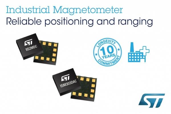 IIS2MDC i ISM303DAC - 3-osiowe magnetometry przemysłowe