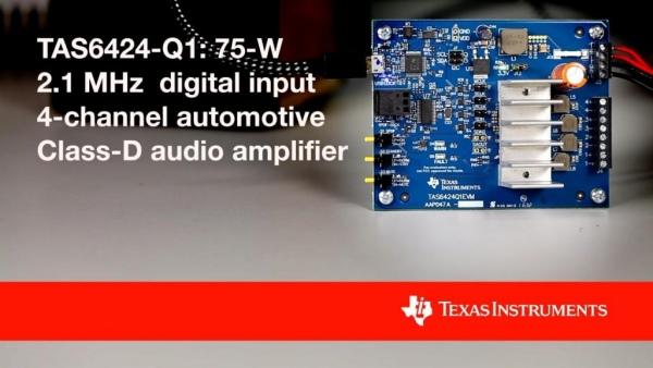 TAS5414C-Q1 i TAS5424C-Q1 - 4-kanałowe wzmacniacze audio o mocy 28 W/kanał