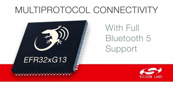 Nowa seria układów komunikacyjnych Wireless Gecko SoC z obsługą standardu Bluetooth 5