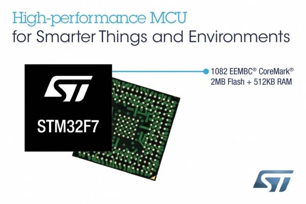 Mikrokontrolery STM32 Cortex-M7 z dużą pamięcią i kontrolerem TFT-LCD