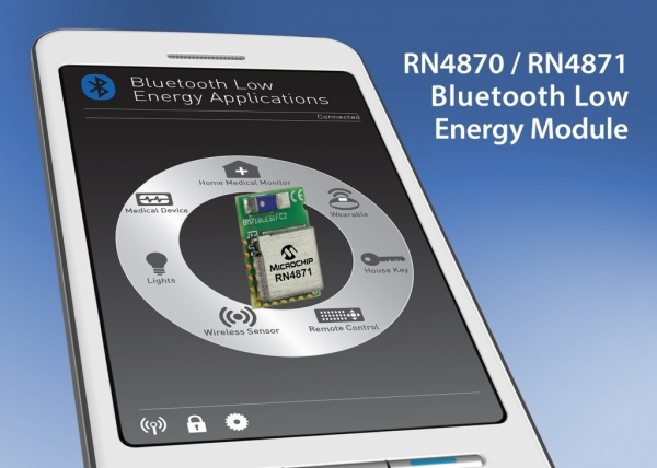 RN4870 i RN4871 – moduły BLE 4.2