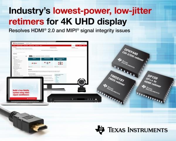 Układy retimerów do zastosowania w interfejsach 4K UHD