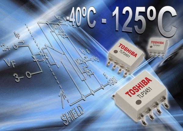 Sprzęgacz optyczny o prądzie wyjściowym ±0,6 A pracujący w zakresie temperatury -40...+125°C