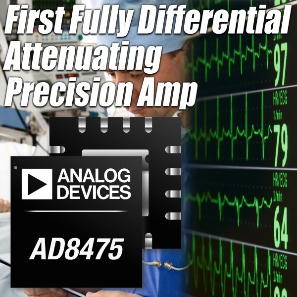 Precyzyjny wzmacniacz różnicowy do sterowania wejść 18-bitowych przetworników A/C