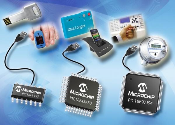 Nowe, 8-bitowe mikrokontrolery Microchip z interfejsem USB 2.0