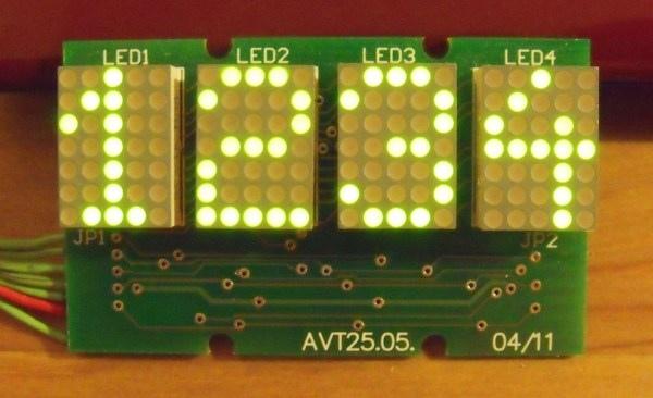 Moduł 4-znakowego wyświetlacza alfanumerycznego LED