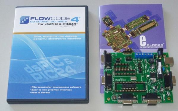 FlowCode i E-blocks. Instalowanie komponentów, pierwszy program