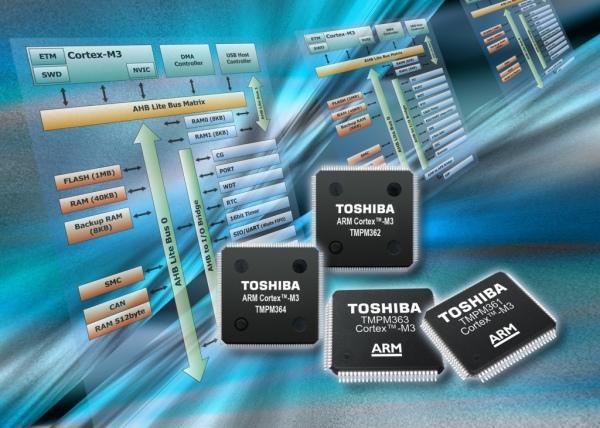 Mikrokontrolery ARM Cortex-M3 firmy Toshiba