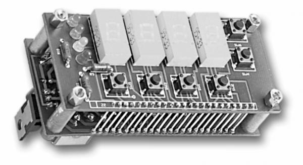 Zegar elektroniczny z mikrokontrolerem ST6215